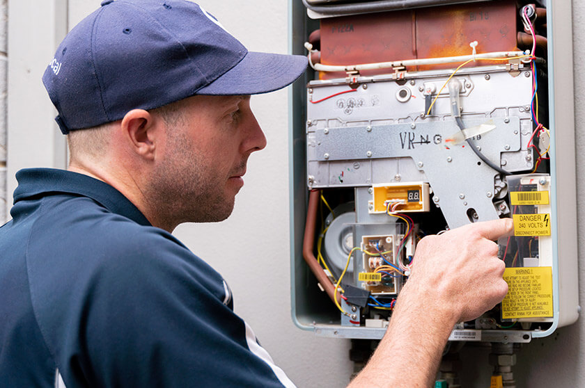 Professional installation hot water