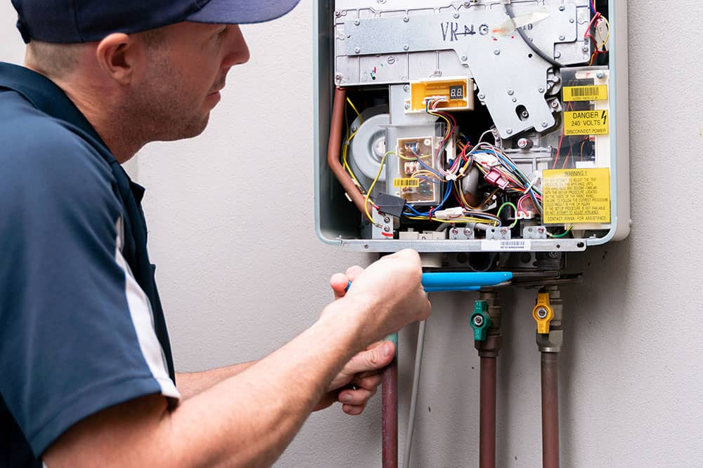 fixing a hot water system